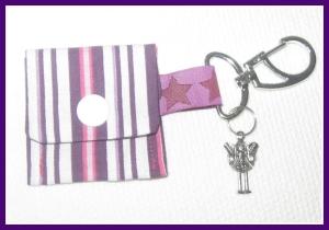 chiptasche lila schutzengel