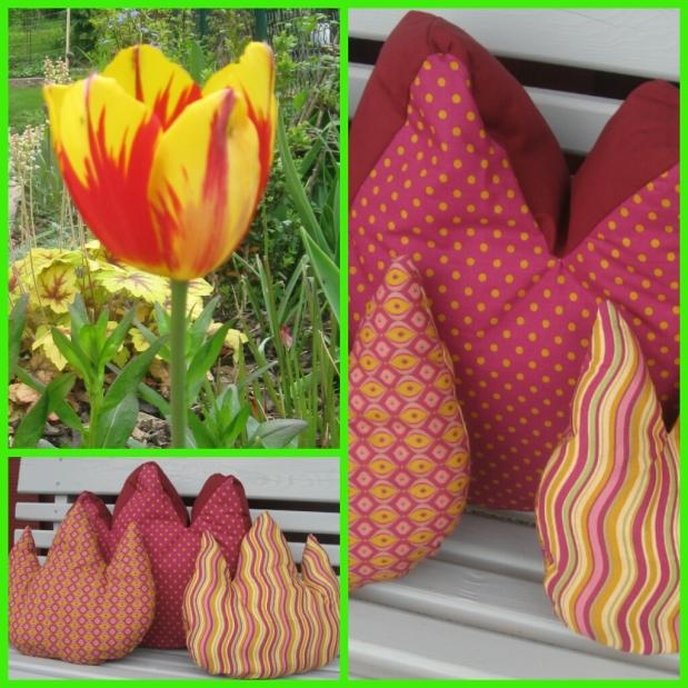 Outdoor-Deko: Tulpenkissen